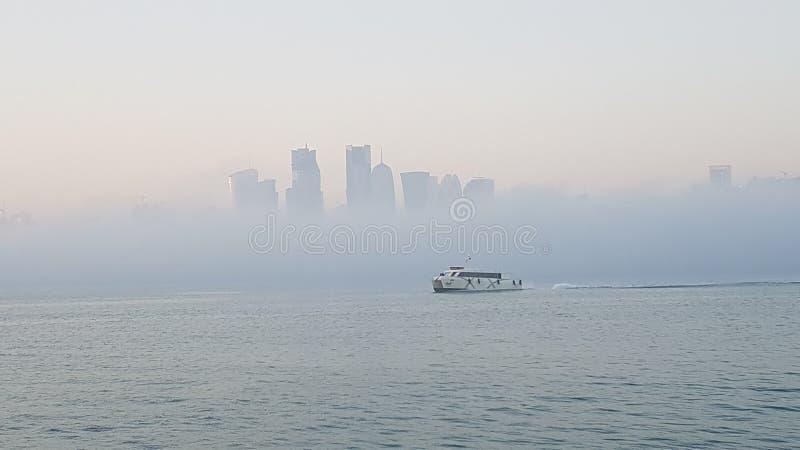 Brouillard dans Doha 2 photo libre de droits