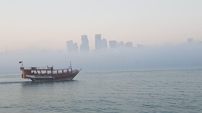 Brouillard dans Doha 1 image stock
