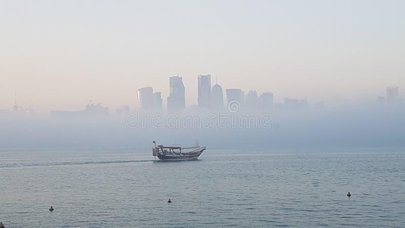 Brouillard dans Doha 3 images libres de droits