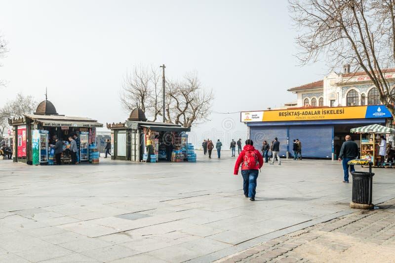 Brouillard dans Kadikoy, Istanbul, Turquie photo libre de droits