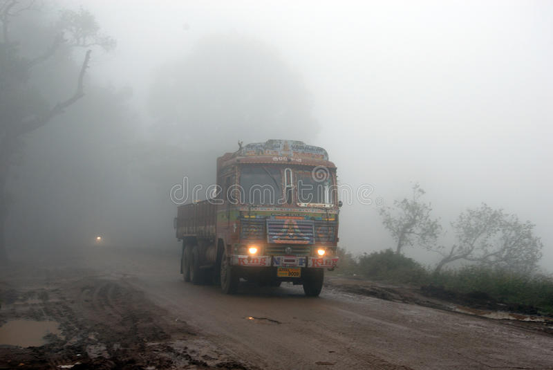 Brouillard de matin images stock