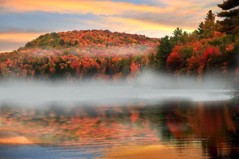 Brouillard de matin au Vermont rural photo libre de droits