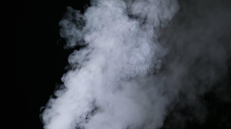 Brouillard sec réaliste de nuages de fumée photo stock