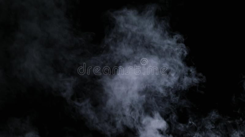 Brouillard sec réaliste de nuages de fumée photographie stock