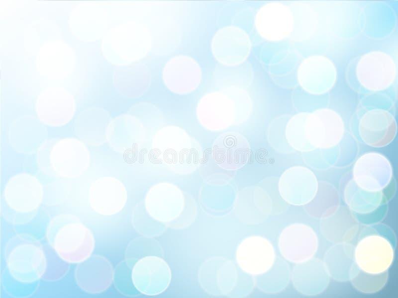Brouillez l'effet de la lumière de bokeh avec le fond d'abrégé sur vecteur de ciel bleu illustration stock