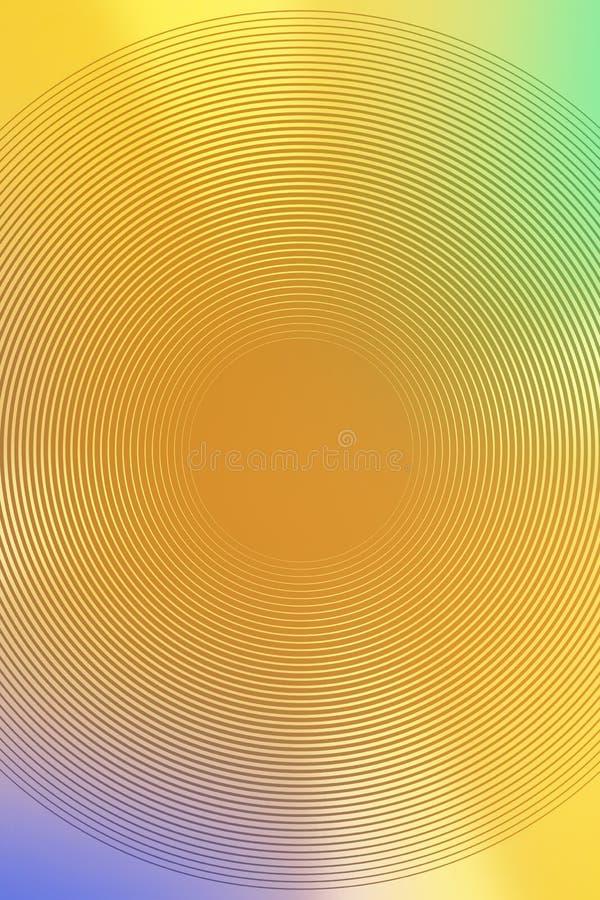 Brouillez la conception abstraite jaune de contexte l'espace brillant illustration de vecteur