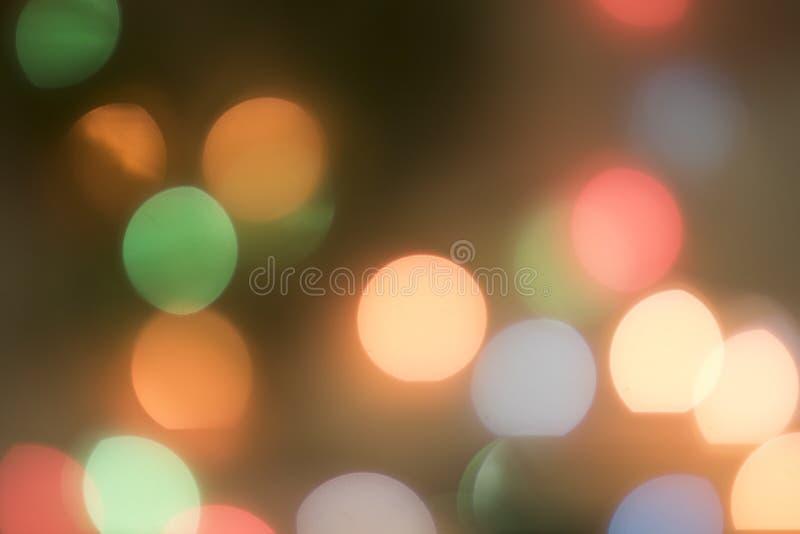 Brouillez le bokeh, lumière de bokeh, fond de bokeh Christmaslight illustration stock