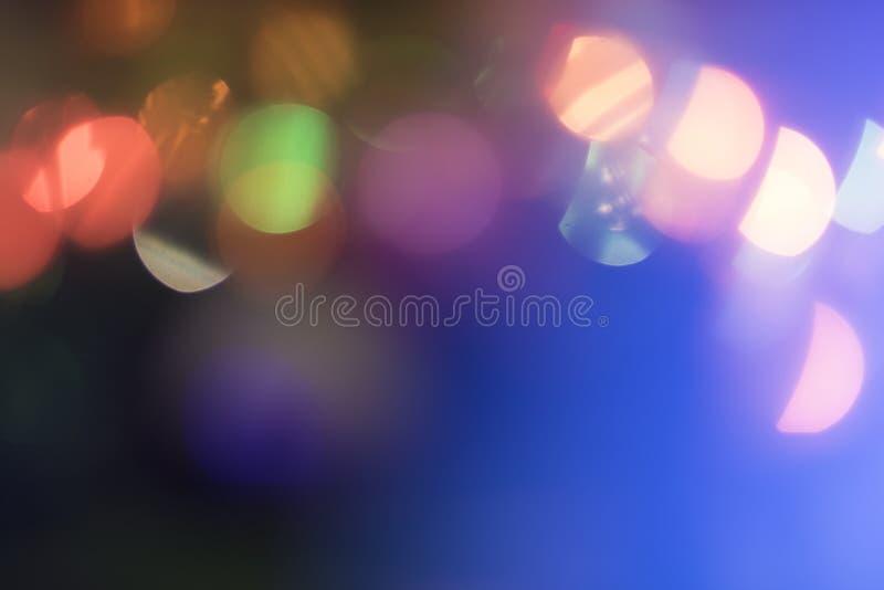 Brouillez le bokeh, lumière de bokeh, fond de bokeh Christmaslight photographie stock