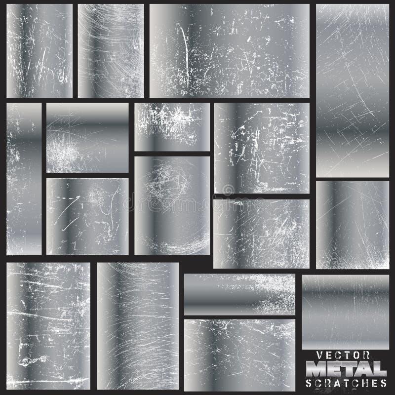 Brouillons en métal de vecteur illustration de vecteur