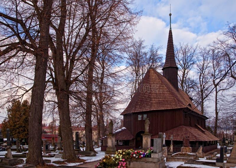 BROUMOV, ЧЕХИЯ - 16-ОЕ МАРТА 2010: Церковь девой марии в Broumov, чехии стоковое фото