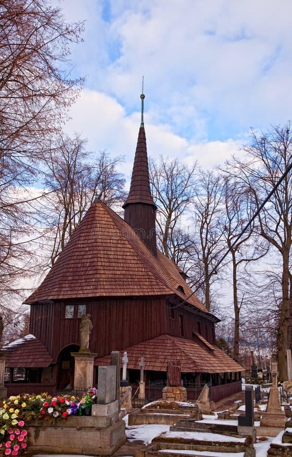BROUMOV, ЧЕХИЯ - 16-ОЕ МАРТА 2010: Церковь девой марии в Broumov, чехии стоковые фотографии rf