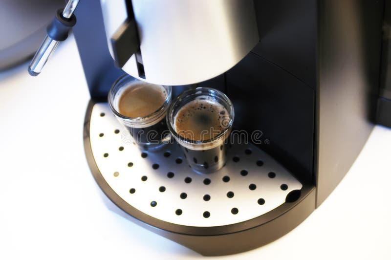 Brouwende Espresso royalty-vrije stock afbeeldingen