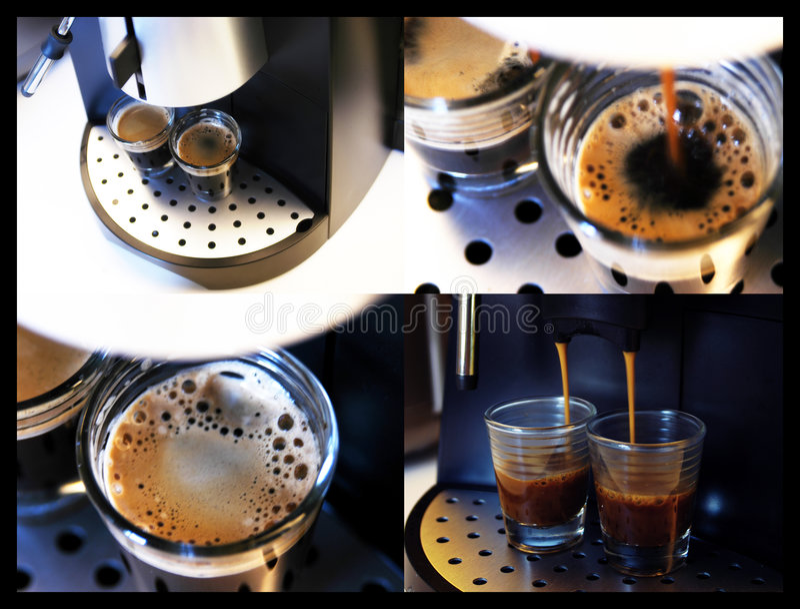 Brouwende Espresso royalty-vrije stock fotografie