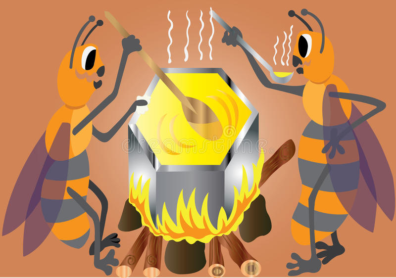 Brouwende Honing royalty-vrije illustratie