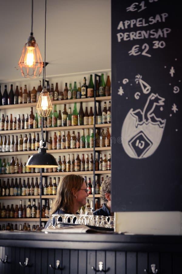Brouwerij 't IJ Brouwerij in Amsterdam Nederland Maart 2015 stock afbeeldingen