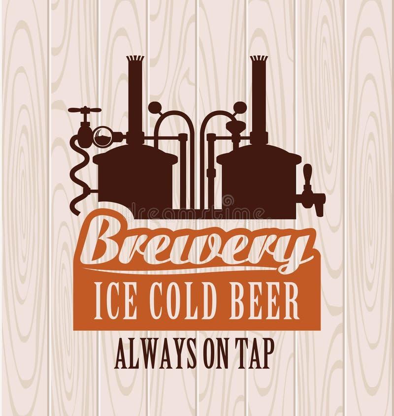 Brouwerij stock illustratie