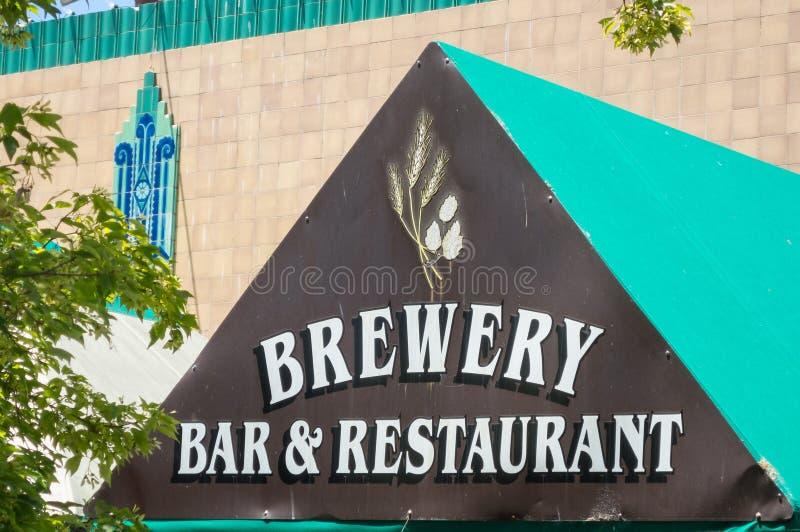 Brouwerij, bar en restaurant royalty-vrije stock foto's