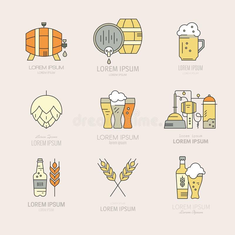 Brouwerij Logo Collection stock illustratie