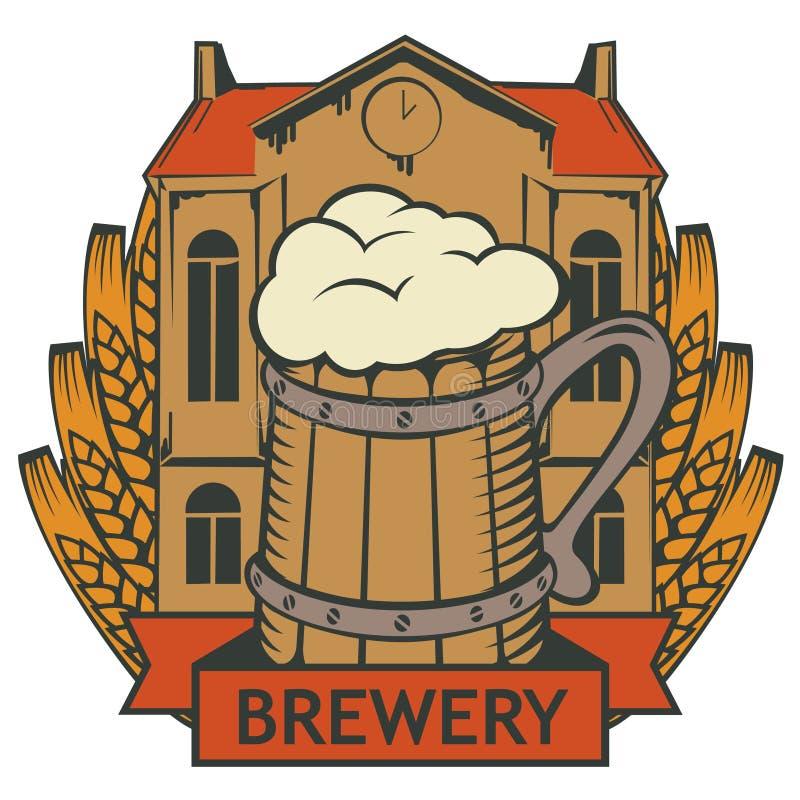 Brouwerijetiket vector illustratie