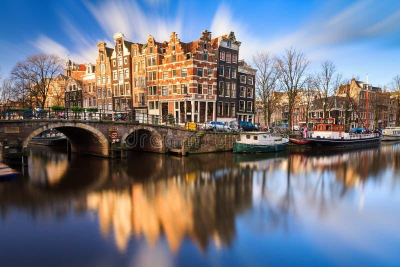 Brouwersgracht Amsterdam fotografía de archivo