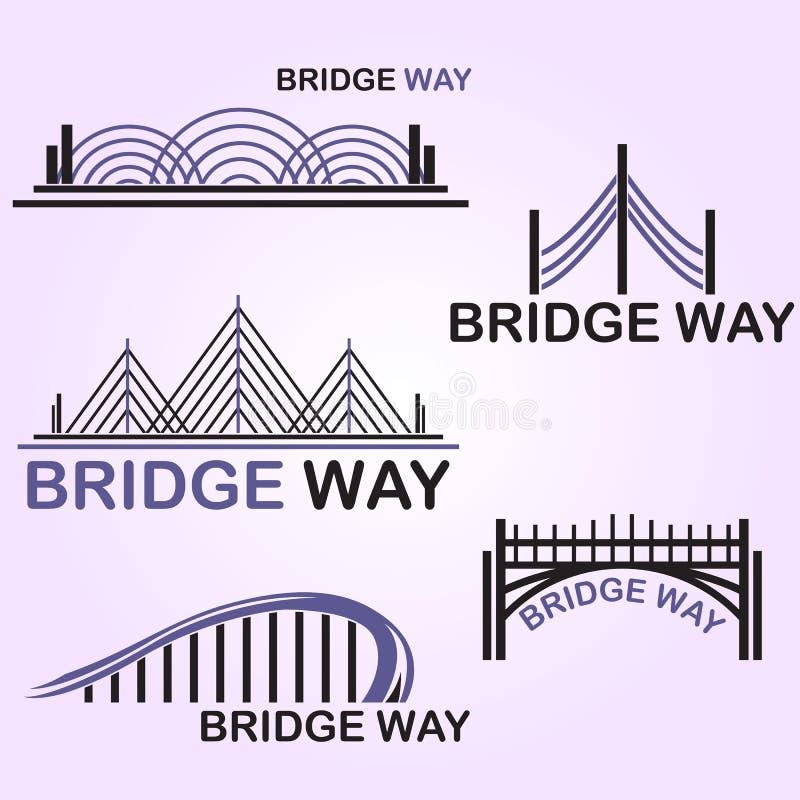 Broväg royaltyfri illustrationer