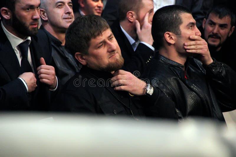 Brovary, UKRAINE 4 12 Les 2010 Présidents tchétchènes Ramzan Kadyrov images stock
