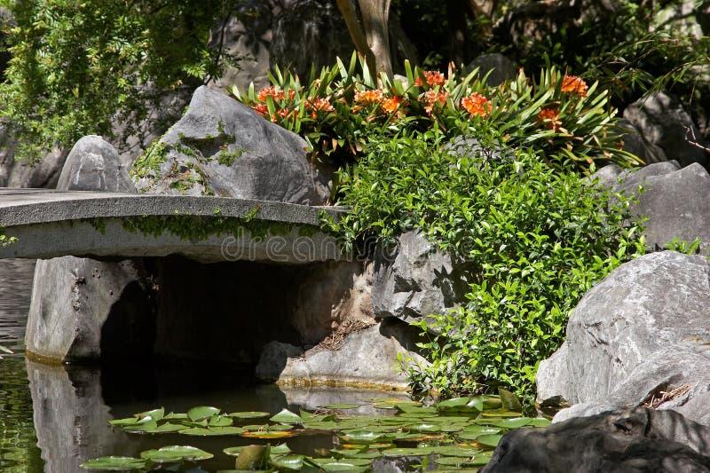 Download Brovatten arkivfoto. Bild av buskar, liljar, blommor, leaves - 284882