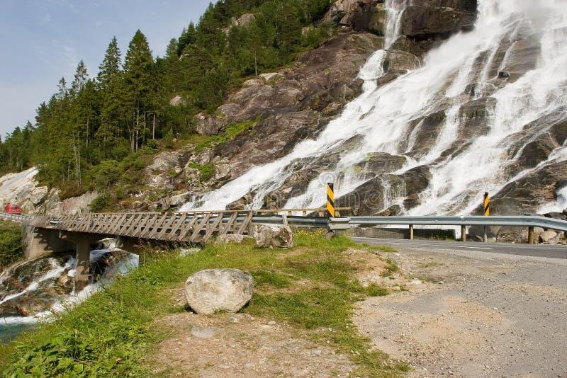 Download Brovattenfall fotografering för bildbyråer. Bild av rock - 981789