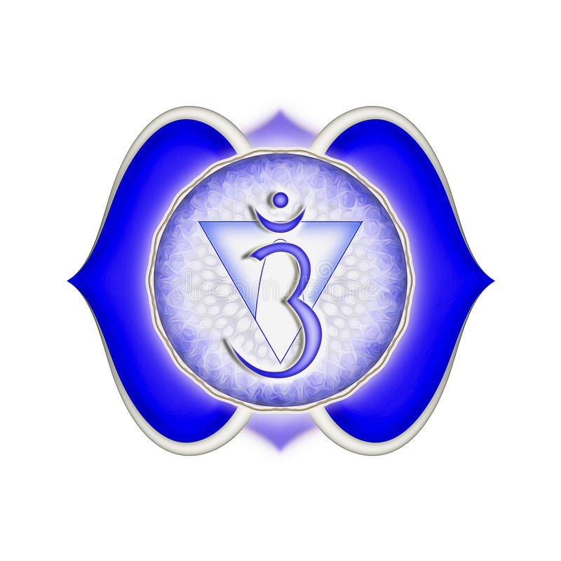 The Brow Chakra. Illustration of the brow chakra royalty free illustration