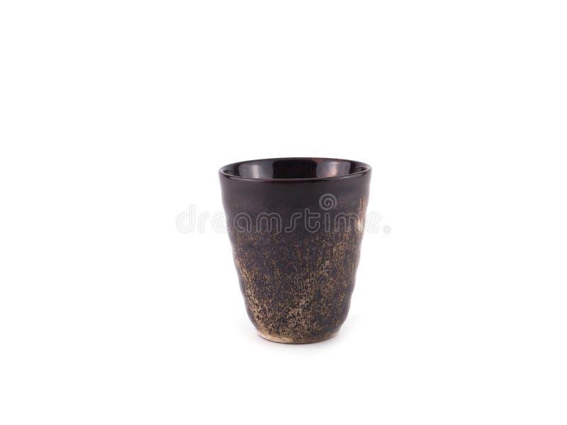 Brow cup keramiek voor thee royalty-vrije stock foto