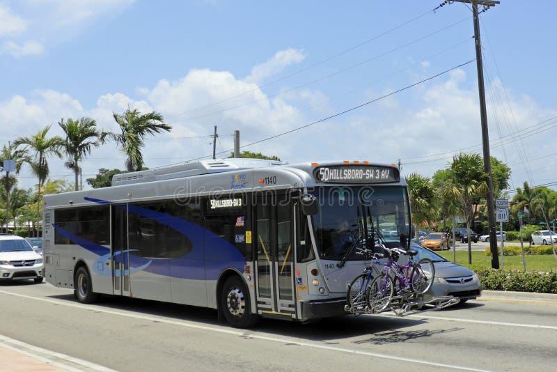Broward County transportbuss royaltyfria foton