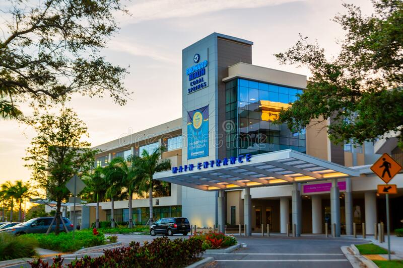 Broward Health Medical Center Coral Springs Florida, United States. Broward Health Coral Springs: Hospitals, Urgent Care Center. Coral Springs, Florida/USA royalty free stock photos