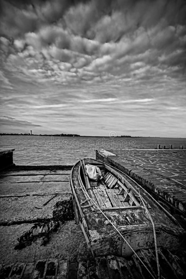 Brown łódź zdjęcie stock