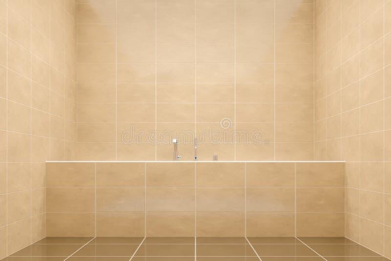 brown łazienki boczny widok balia ilustracja wektor