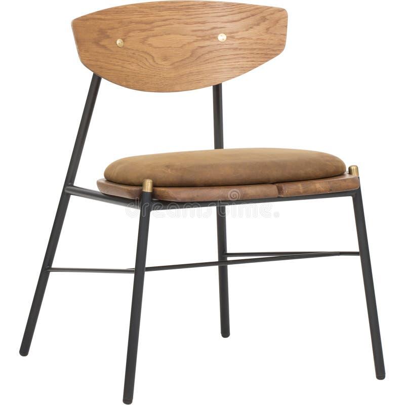 Brown Łomota krzesła z białym tłem, krzesło Łomota, Gent Łomota krzesła - W pełni Wyścielanego, grzebień Bentwood Łomota krzesła  obrazy stock