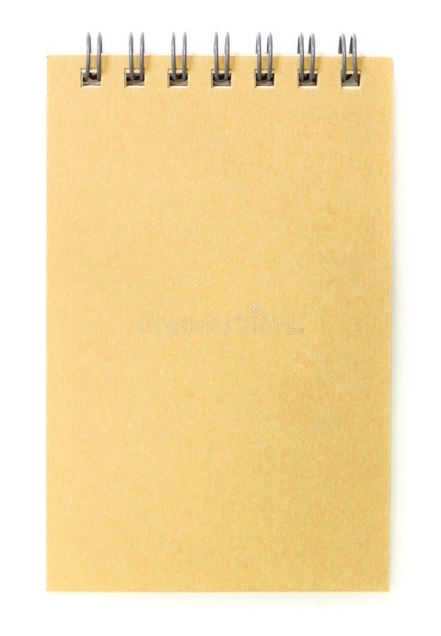 Brown-Abdeckungnotizbuch bereiten Papier auf stockfoto