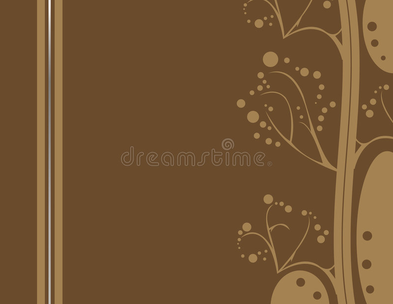 Brown abstract earthy design 2 royalty free illustration