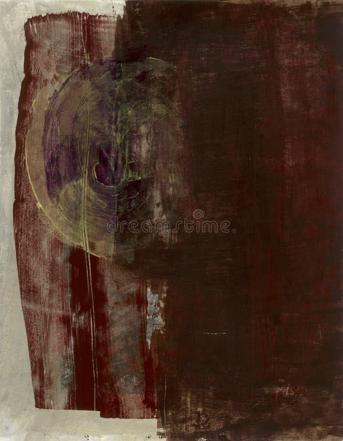 Brown abstrait avec le vortex illustration stock