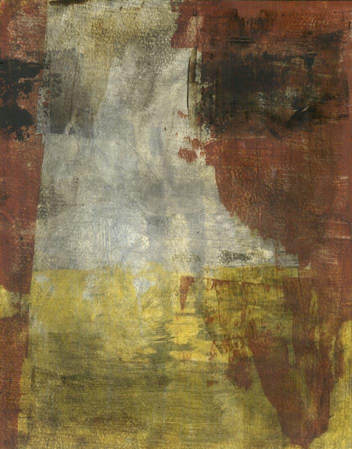 Brown abstrait gris et jaune illustration libre de droits