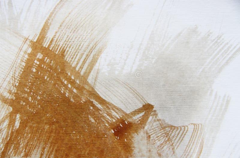 Brown abstrakta brushstrokes zdjęcie royalty free