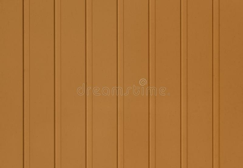 Brown acanaló textura de la pared de apartadero del metal imagen de archivo libre de regalías