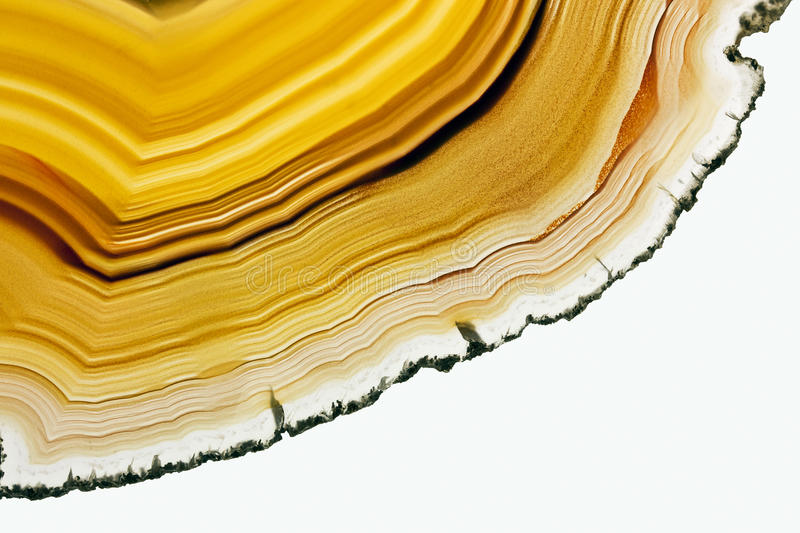 Brown Agate. A Close-up of Slice of an Agate Gemstone Texture royalty free stock image