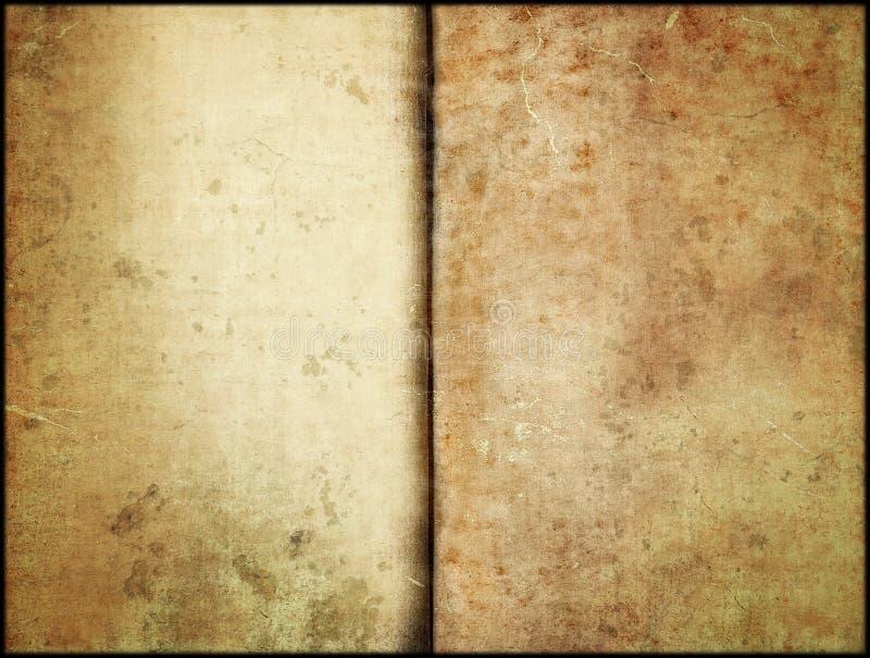 Brown Aged Paper Vintage Book Page Background vector illustration