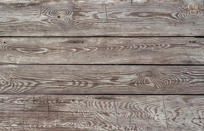 Brown aged pine wooden horizontal background royalty free stock images