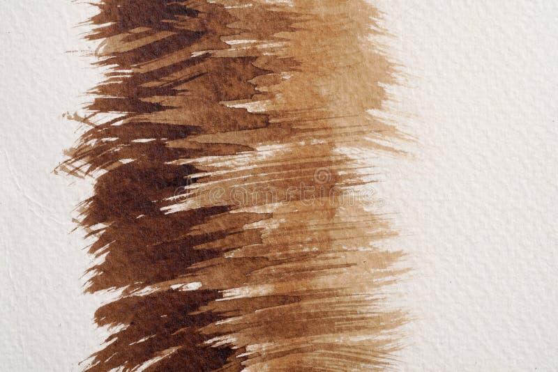 Brown akwareli tekstury fotografia royalty free