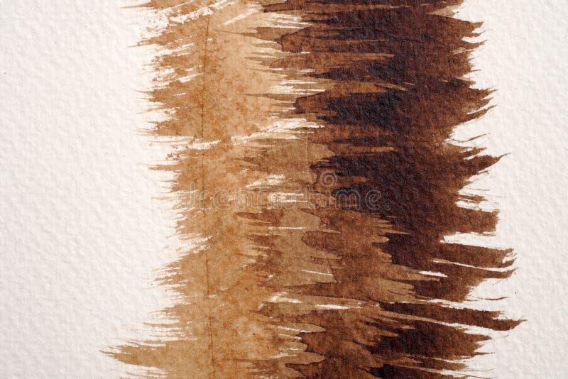 Brown akwareli tekstury zdjęcie stock