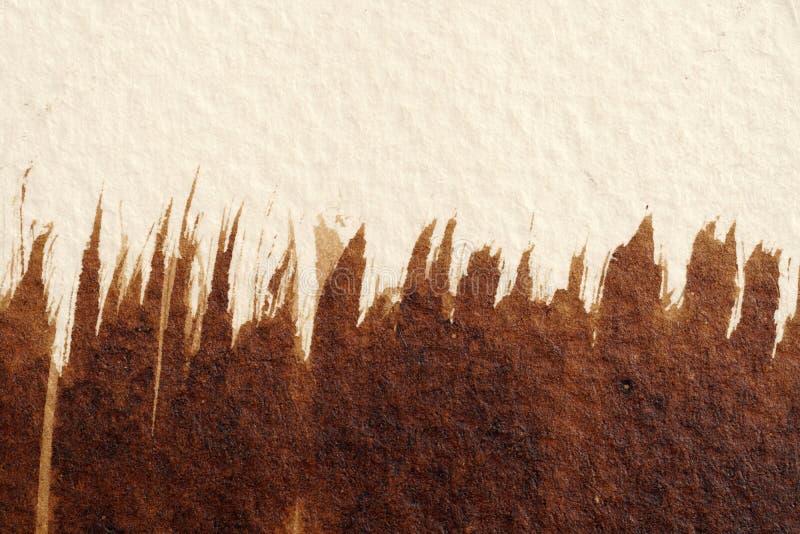 Brown akwareli tekstury obrazy stock