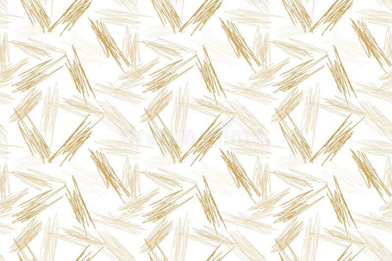 Brown al azar rasguña el fondo inconsútil ilustración del vector