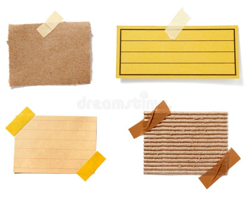 Brown-alter Papieranmerkungshintergrund lizenzfreies stockbild