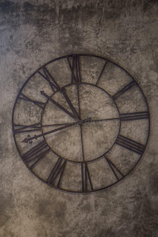 Brown Analog Wall Clock At 11:48 Free Public Domain Cc0 Image